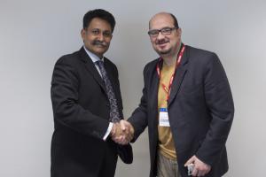 DCI Asker Husain with Mr Nikola Prokopenko