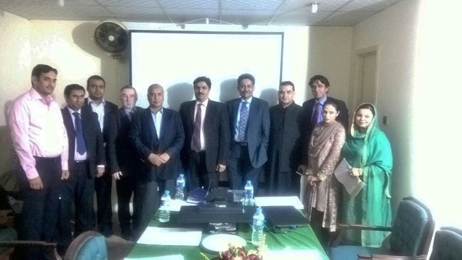 The Director General and his inspectors with DCI Asker Husain