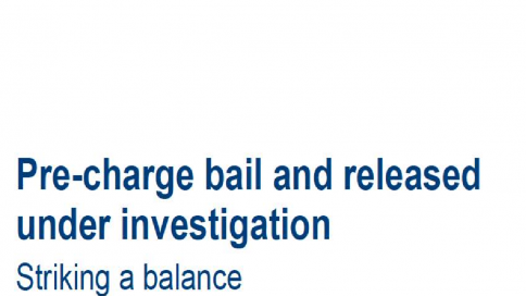 Joint Inspection on Pre-charge bail and released under investigation: striking a balance
