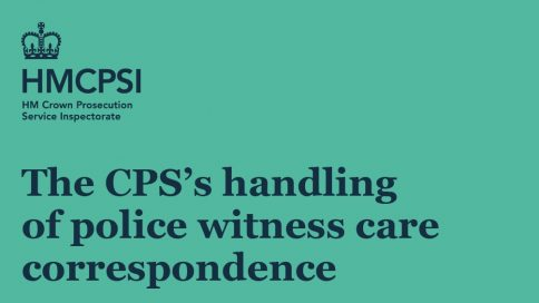 The CPS's handling of police witness care correspondence