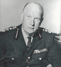 Colonel Sir Eric St Johnston, CBE, QPM, MA (February 1967 – September 1970)
