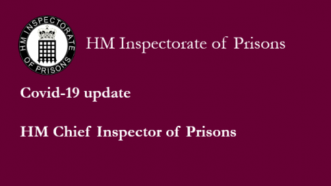 Slogan reads 'COVID-19 update - HM Chief Inspector of Prisons'