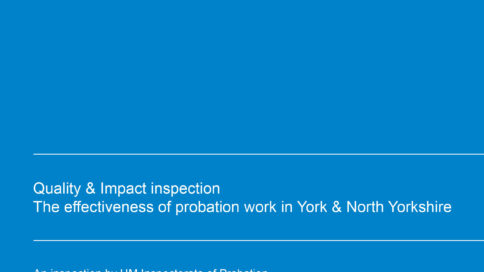 The effectiveness of probation work in York & North Yorkshire