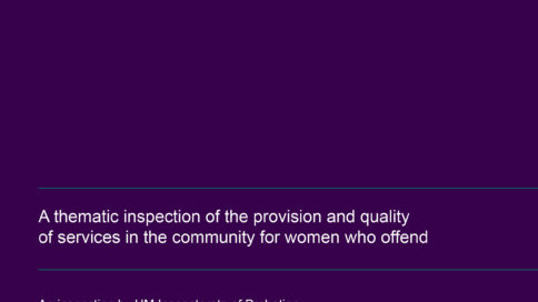 A thematic inspection of the provision and quality of services in the community for women who offend