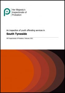 Cover of 'An inspection of youth offending services in South Tyneside' report